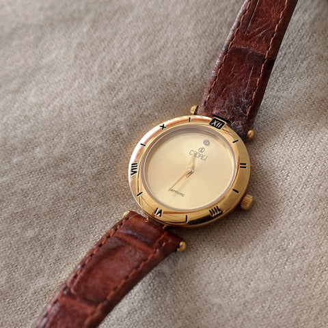 Vintage: Cadali Halcyon in Gold/Brown (Petite)
