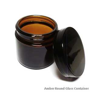 Container: Round Dark Amber Glass