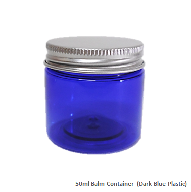 Soap Artisan | Dark Plastic Balm Container with Aluminium Cap