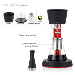 Izac 700 Cold Brew Coffee Dripper Special Features