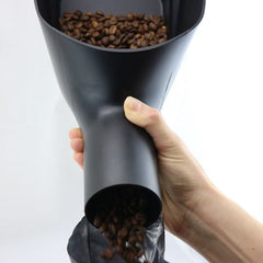Rhino Coffee Scoop pouring beans