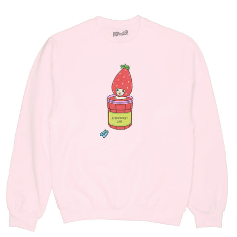 Popkiller Artist Series Naoshi Strawberry Jam Bath Pullover Sweatshirt