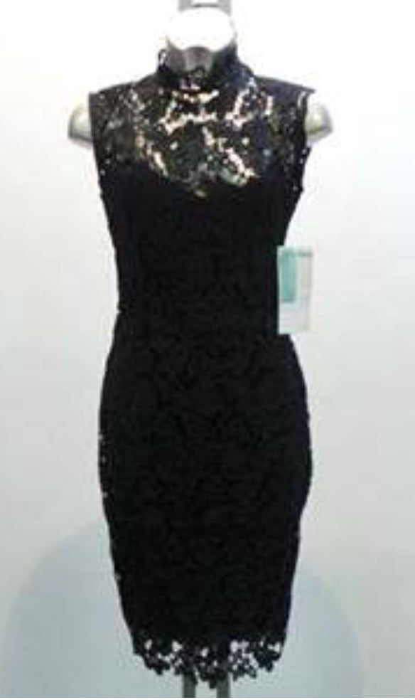 Black Lace Halterneck
