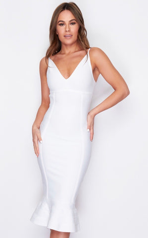 White Maxi Bandage Dress