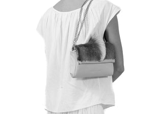 sherene melinda springbok hair-on-hide black leather Sophy SS18 Clutch Bag fan context