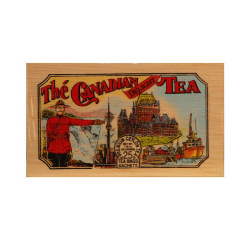 Canadian Delight 25 tea bags in wood chest