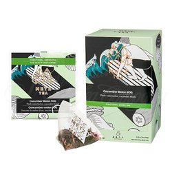 Cucumber Melon Green Tea (25 Loose-Leaf Pyramid Teabags Carton)
