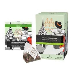 Long Island Strawberry Green Tea (25 Loose-Leaf Pyramid Teabags Carton)