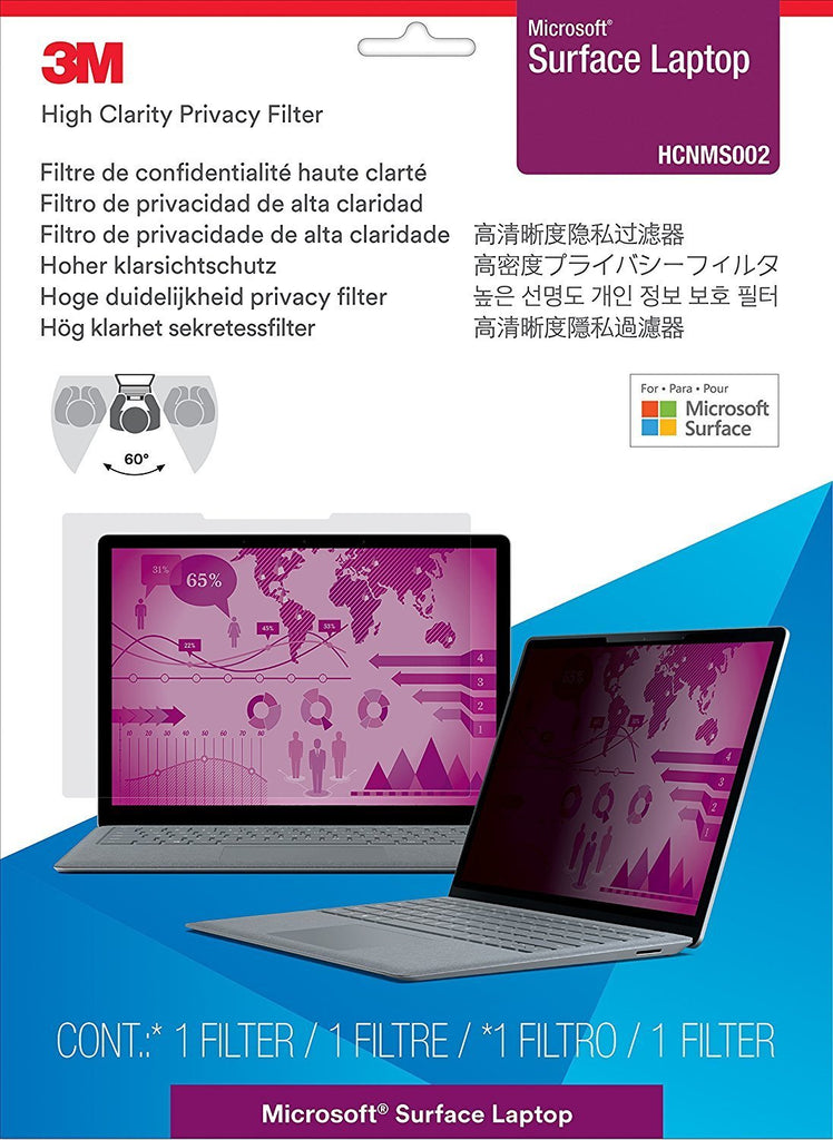 3M HCNMS002 High Clarity Privacy Filter for Microsoft Surface Laptop