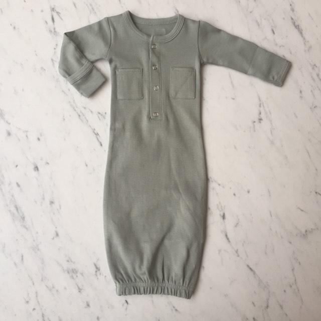 Organic Gown - Seafoam by Loved Baby