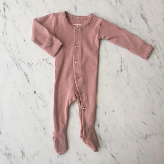 Organic Footed Overall - Mauve by Loved Baby