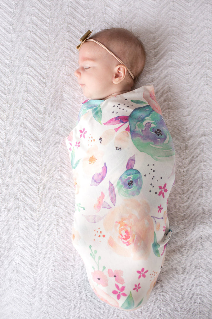 Knit Swaddle Blanket - Bloom by Copper Pearl
