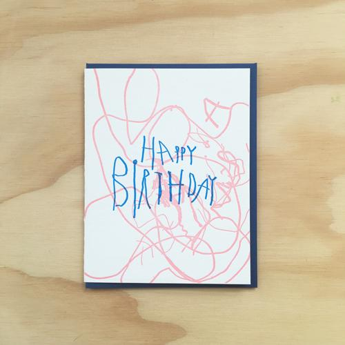 Scribbles Card by Bench Pressed