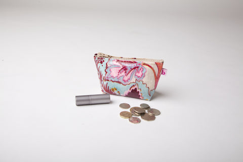 Exotic Floral Change Purse