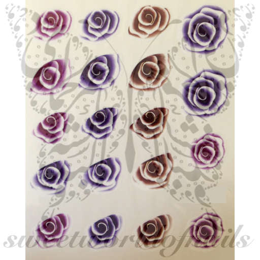 Floral Nail Art Purple Flower Nail Water Decals Water Slides