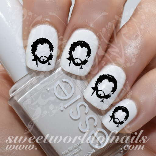 Game of Thrones Art Nail Jon Snow Water Decals