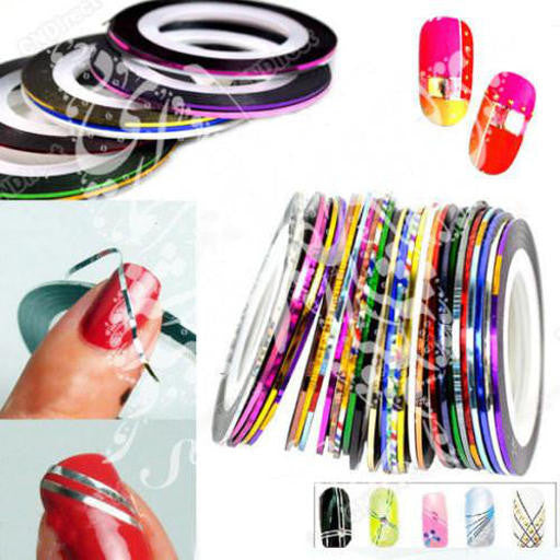Adhesive decoration nail art rolls/striping tape Sticker 10 colors to choose