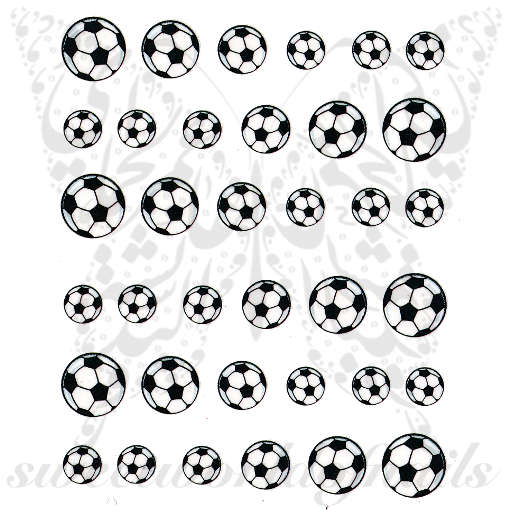 Football Nails Soccer ball water decals