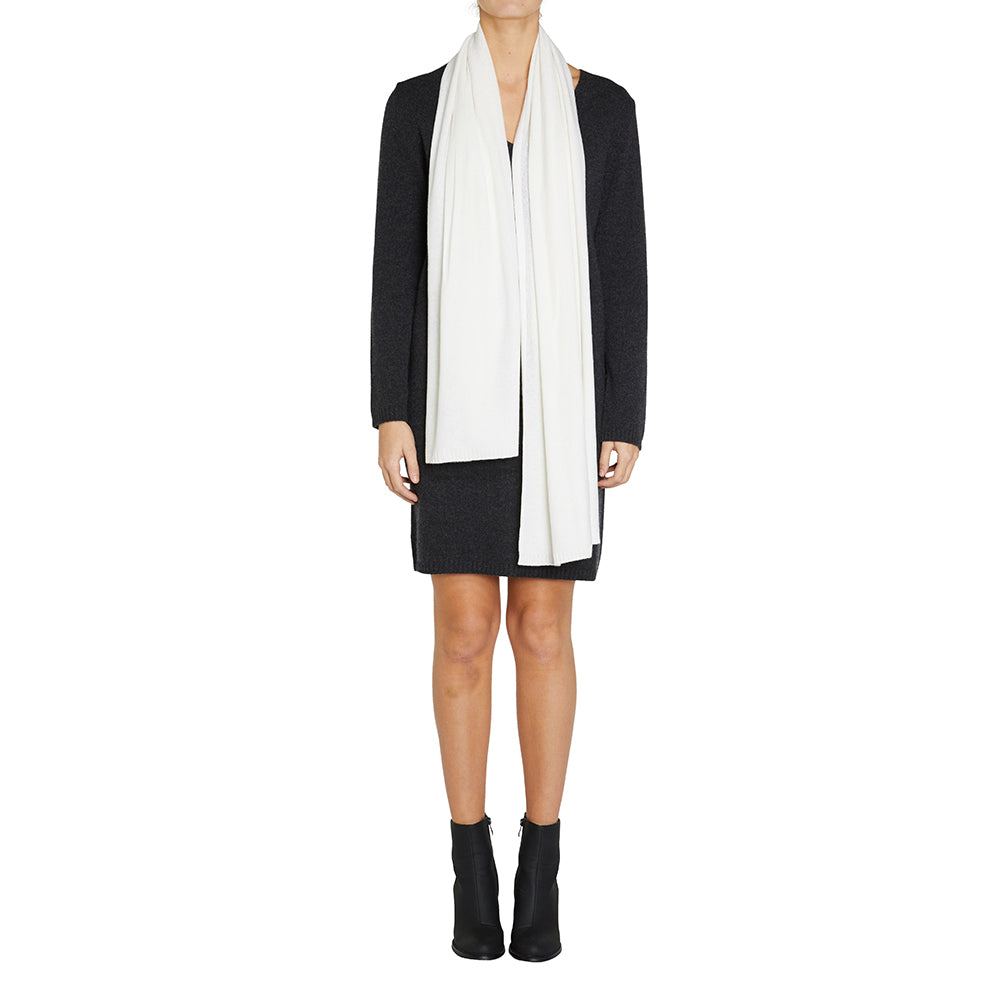 Sonya Hopkins pure cashmere scarf in winter white