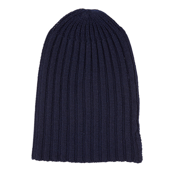Cashmere Alex Rib Beanie in Pale Marle Grey