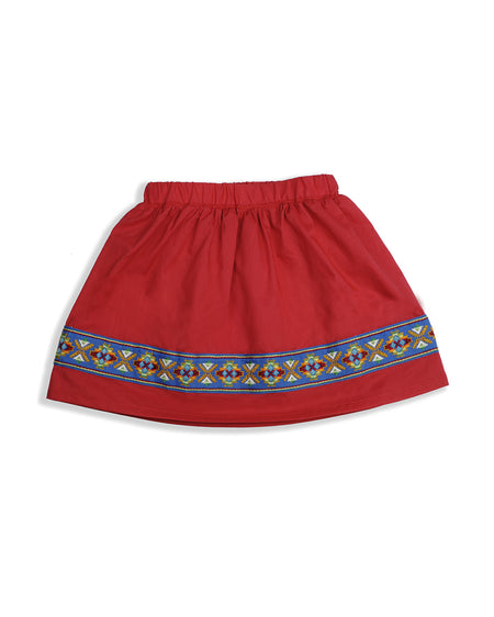 JEWEL SKIRT RED