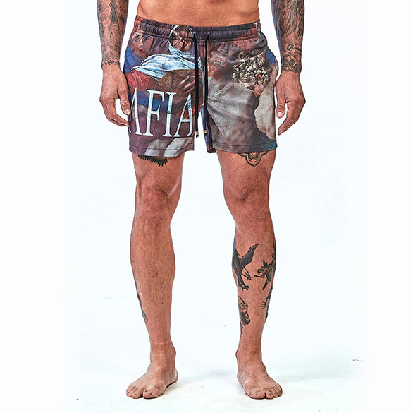 Shorts La Mafia Beachwear Tropical Street Sanzio