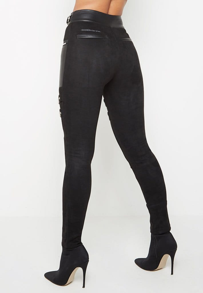 faux-suede-strap-leggings-black
