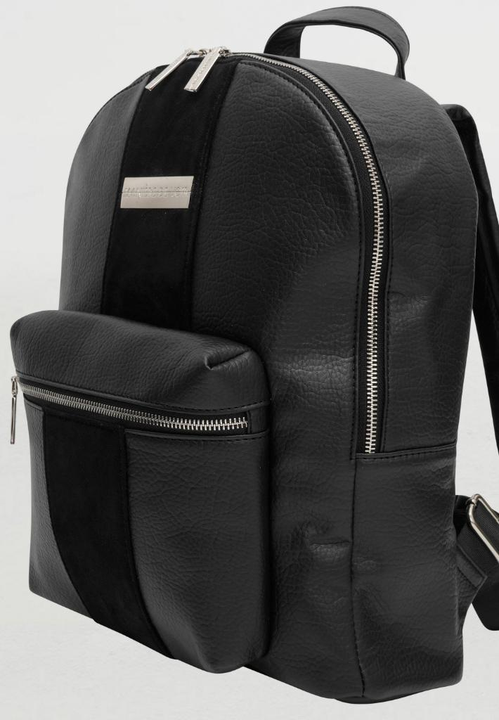 vegan-leather-backpack-with-suede-panel-black