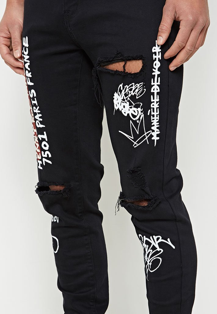 graffiti-jeans-black