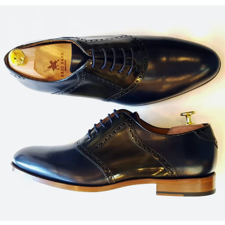 Blue and Green Marbled Patina Oxfords