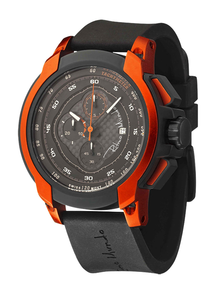 Ritmo Mundo Quantum 1 Orange 50mm Stainless Steel-Aluminum Case Chrono Men's Watch 1001/3 Orange