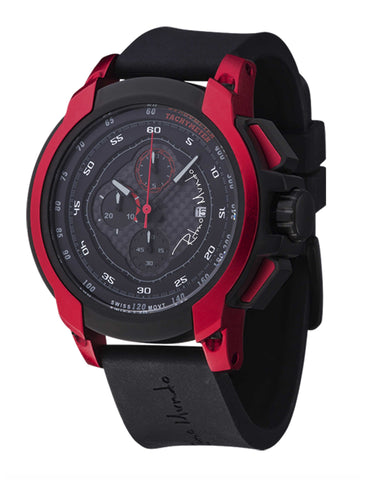 Ritmo Mundo Quantum 1 Red 50mm Stainless Steel-Aluminum Case Chrono Men's Watch 1001/4 Red