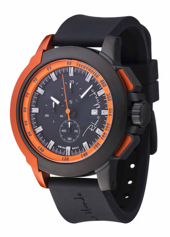 Ritmo Mundo Quantum 2 Orange 50mm Stainless Steel-Aluminum Case Sports Men's Watch 1101/3 Orange
