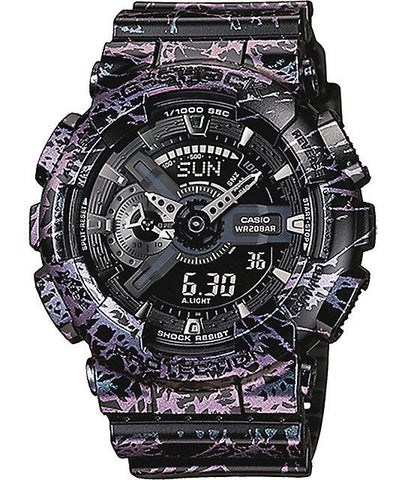 G-Shock Analog-Digital Polarized Black-Purple Men's Watch GA110PM-1A
