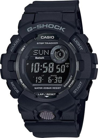 G-Shock Digital Fitness Black Resin Strap Bluetooth Connection Men's Watch GBD800-1B