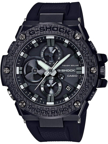 G-Shock G-STEEL Carbon Bezel Solar Powered Black Men's Watch GSTB100X-1A