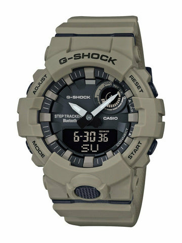 G-Shock Analog-Digital Step Tracker & Smartphone Link Unisex Green Watch GBA800UC-5A