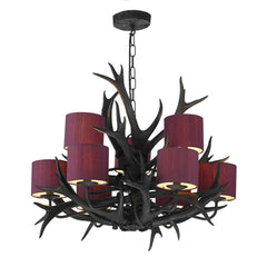 Antler Black 9 Lights Pendant Light - London Lighting - 1