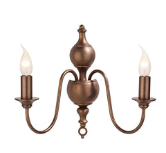 Flemish Bronze Wall Light - London Lighting - 1