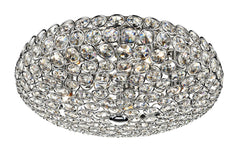 Frost Chrome 5 Lamp Flush Ceiling Light - London Lighting - 1