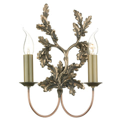 Classic Leaf Bronze 2 Lights Wall Light - London Lighting - 1