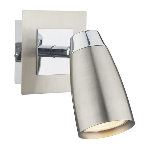 Loft Satin Chrome 1 Light Wall Light - London Lighting - 1