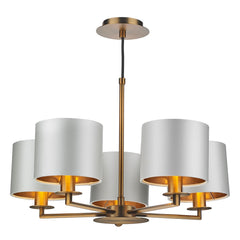 Homerton 5 Light Pendant In Bronze - ID 8679