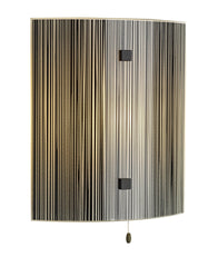 Swirl Black Glass Wall Light - London Lighting - 1