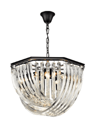 Brent Intertwining Clear Crystals Chandelier - ID 8468