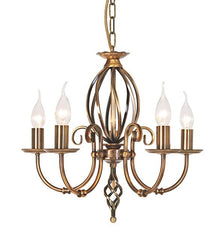 Artisan 5 Arm Chandelier - London Lighting - 1
