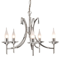 Brightwell 5 Arm Chandelier - London Lighting - 1