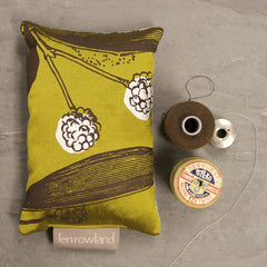 Botanical Lavender Bag - Olive Silk