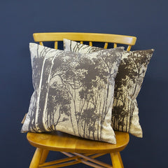 SAMPLE Cushion - 'Woods' French Grey on Cotton