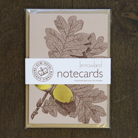 SALE Notecard Set - Foiled Gold Acorn